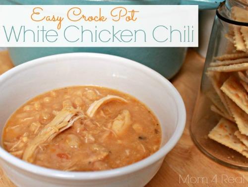 Easy Crock Pot White Chicken Chili Recipe