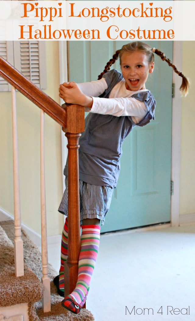 Easy Pippi Longstocking Homemade Halloween Costume
