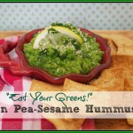 Super Healthy Green Pea-Sesame Hummus Recipe