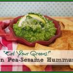 Super Healthy Green Pea-Sesame Hummus Recipe