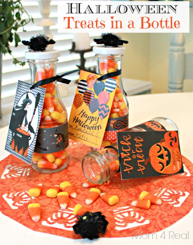 Halloween Candy Treats in a Bottle with Martha Stewart Crafts