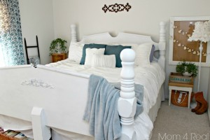 Thrifty Blue & White Cottage Bedroom Makeover