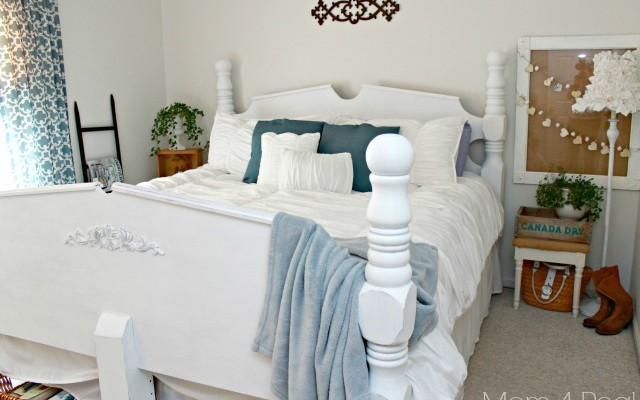 Thrifty Blue & White Cottage Bedroom Makeover