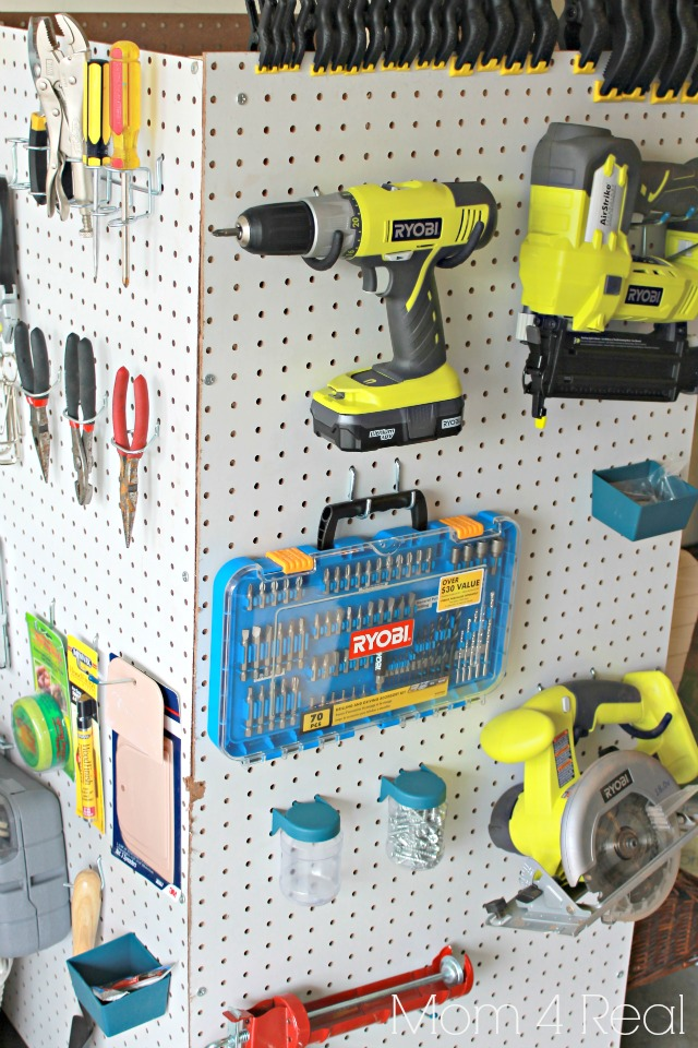 Delightful Portable Pegboard Tool Storage