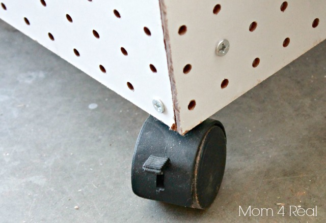 Rolling Pegboard Storage Center