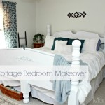 Thrifty Blue and White Cottage Style Master Bedroom