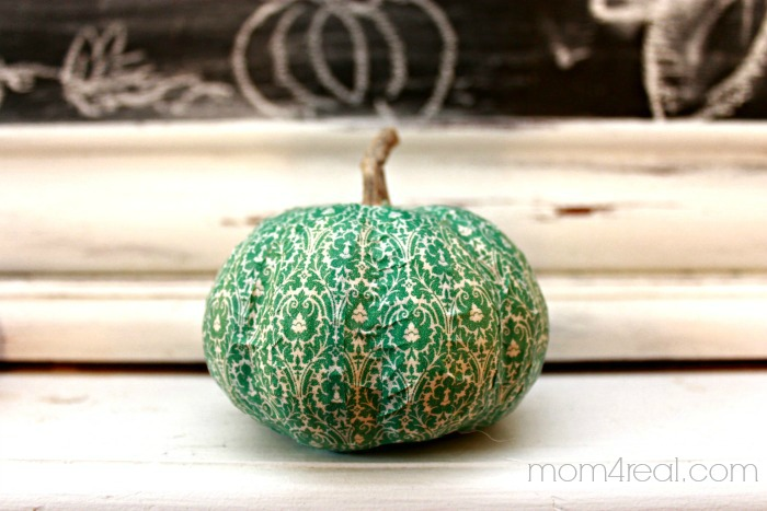 Aqua Washi Tape Pumpkin