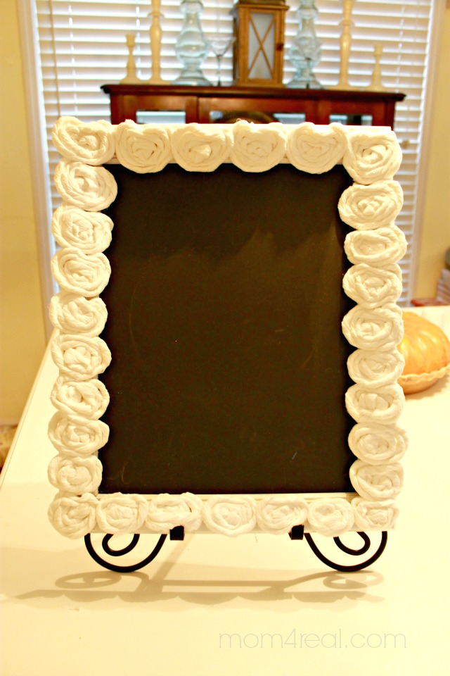 Chalkboard Frame with TP Rosettes