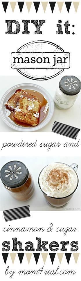 Cinnamon and Sugar Mason Jar Shakers