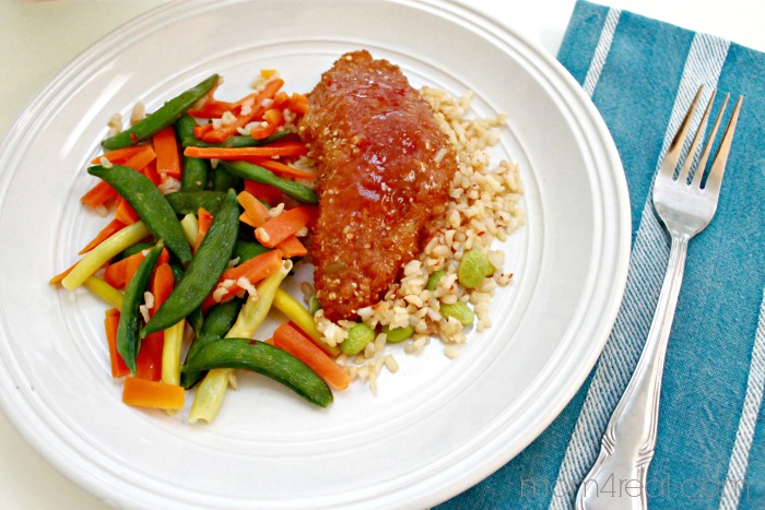 Delicious Plum Ginger Grain - Crusted Fish