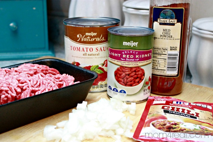 Easy Chili Recipe - Ingredients