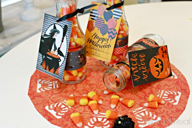 Halloween Treat Bottles With Tags with Martha Stewart Crafts