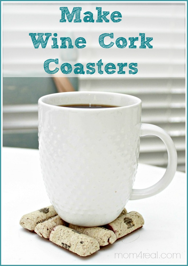 Make Wine Cork Coasters at mom4real.com