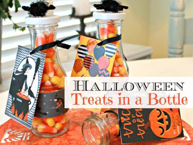 Treats in a bottle for Halloween