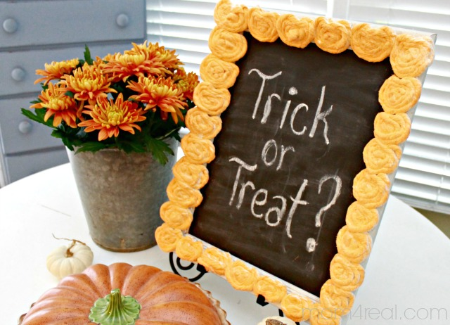 Trick or Treat Chalkboard Sign