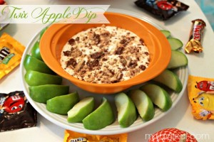 Twix Apple Dip and Last Minute Party Ideas