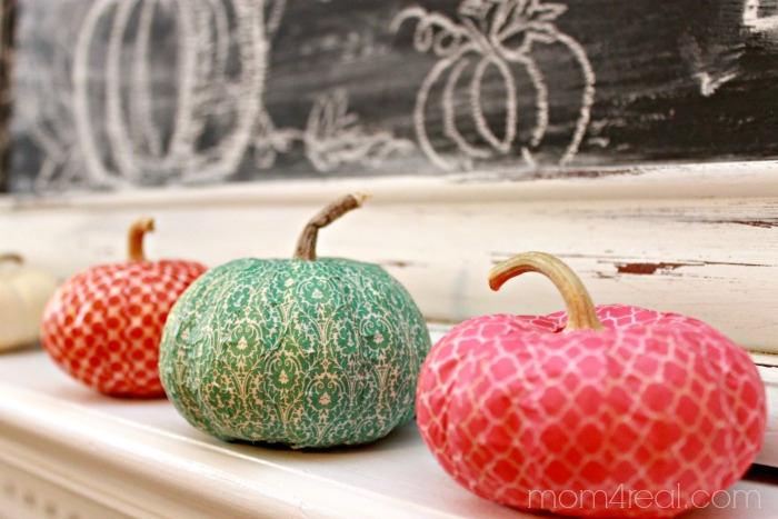 Washi Tape Pumpkins at mom4real.com