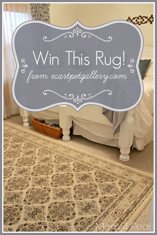 Win this rug at Mom 4 Real