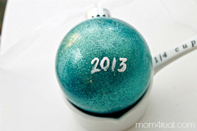 Add a date to the back of homemade ornaments