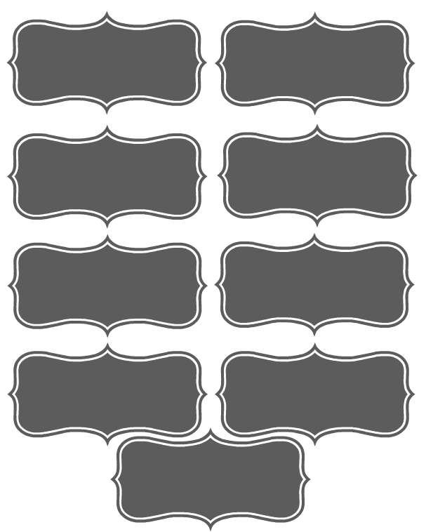 Chalkboard Printable Place Cards