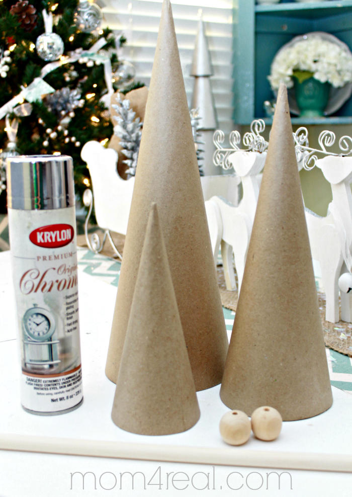 Christmas Topiary Decor.How To Make Stacked Christmas Tree Topiaries Mom 4 Real