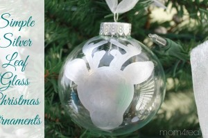 Create Simple Silver Leaf Glass Ornaments