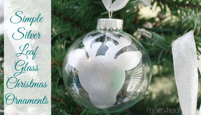 Simple Silver Leaf Glass Christmas Ornaments & A Giveaway ...