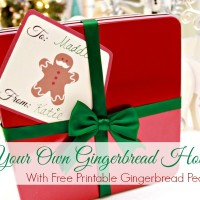 DIY Gingerbread House Kit & Free Gingerbread People Printable Gift Tags