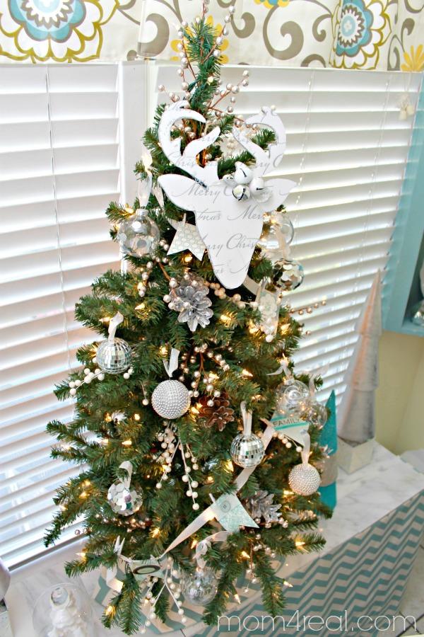 Deer Silhouette Christmas Tree