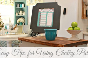 Easy Tips for Using Chalky Paint at mom4real.com