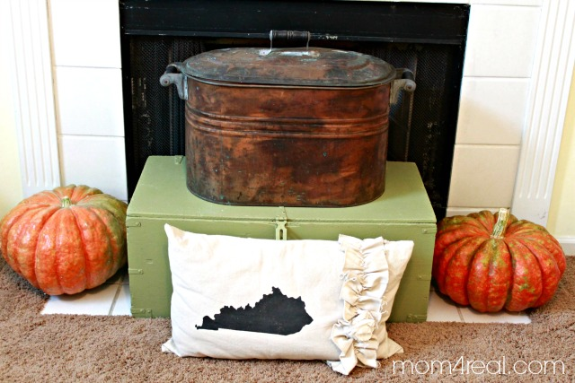 Fall Fireplace Vignette