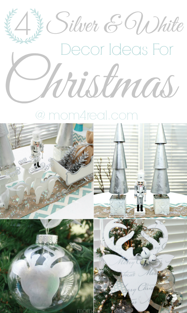Four Silver and White Christmas Decorations @Mom4Real