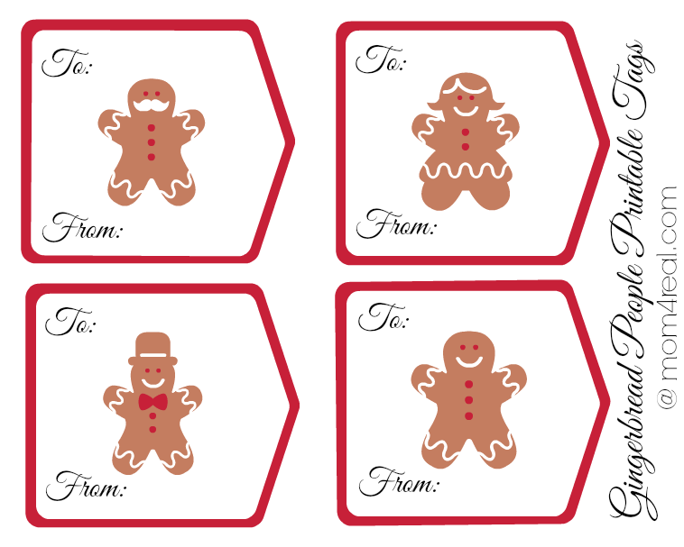 Gingerbread People Printable Tags #shop