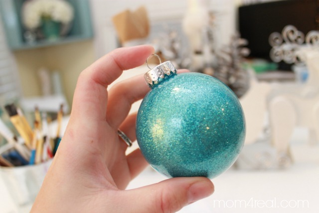 Glitter in Glass Ornament...find the instructions at mom4real.com