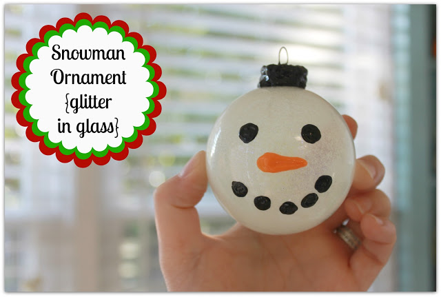 Glitter In Glass Painted Snowman Ornament