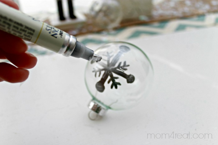 How to Silver Leaf Christmas Ornaments