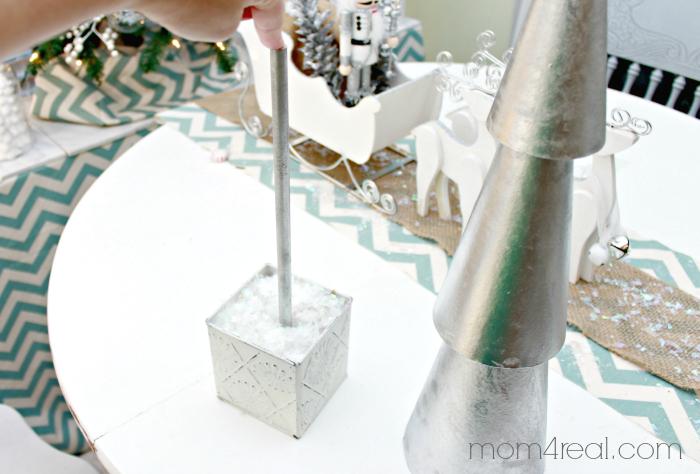 Making Christmas Tree Topiaries