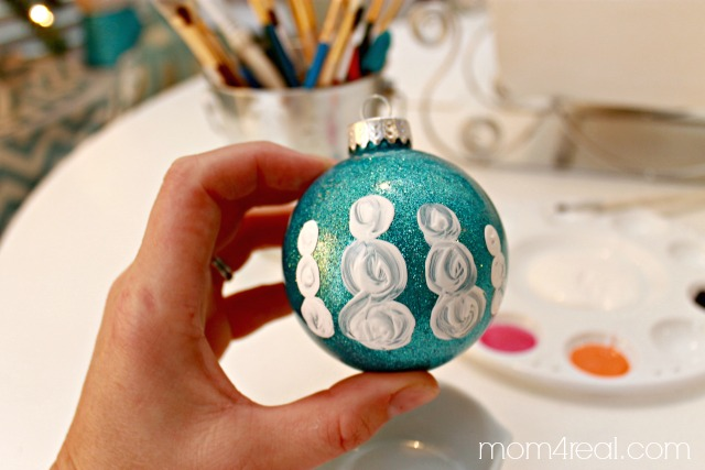 Paint a Snowman Family Ornament