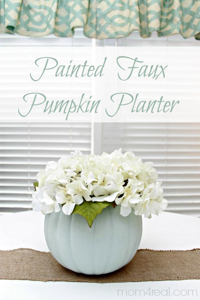 Painted Faux Pumpkin Planter