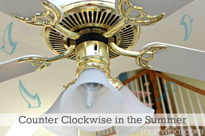 Change ceiling fan direction in winter summer and save money and set your ceiling fan to move counter clockwise in the summer mozeypictures Image collections