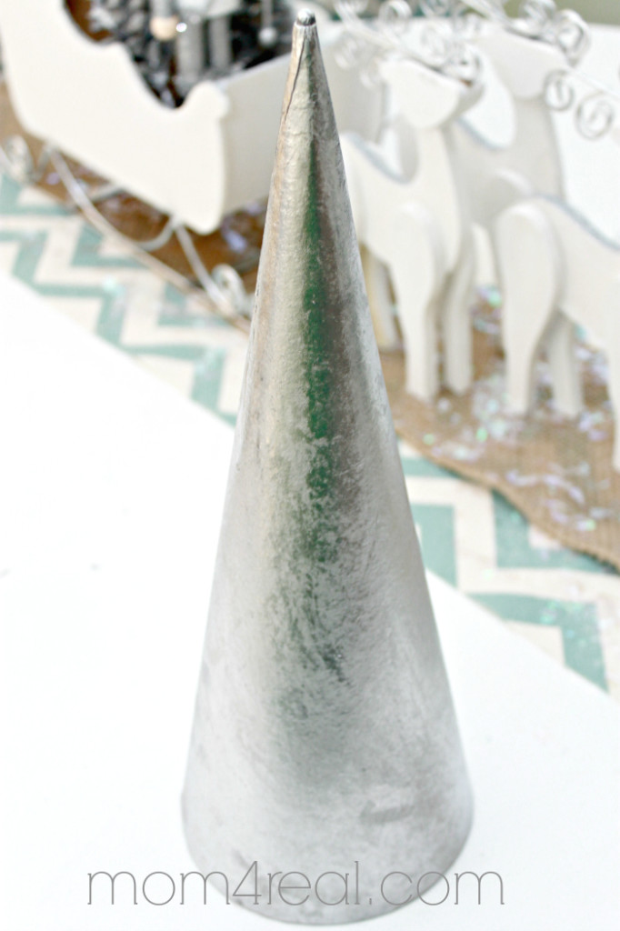 Silver Painted Cone Christmas Tree