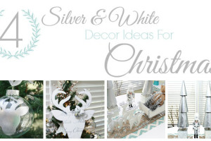 4 Silver and White Christmas Decorations