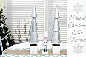 How To Make Stacked Christmas Tree Topiaries