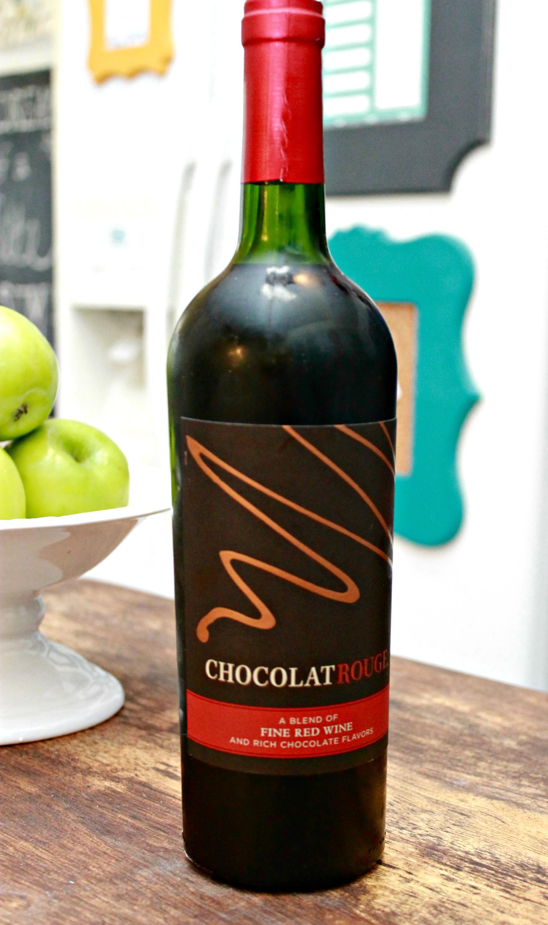 DIY Burlap Wine Gift Bag and Chocolate Wine - Mom 4 Real
