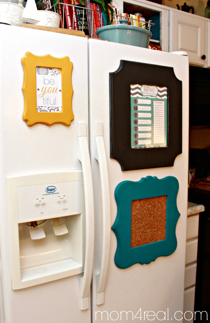 Primp Your Fridge with Cut It Out Frames - Mom 4 Real
