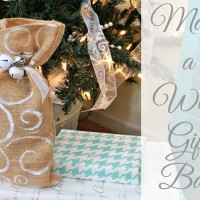 DIY Burlap Wine Gift Bag and Chocolate Wine