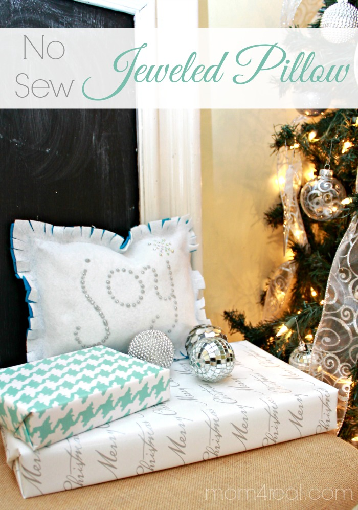 No Sew Jeweled Pillow