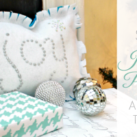 No Sew Jeweled Joy Pillow
