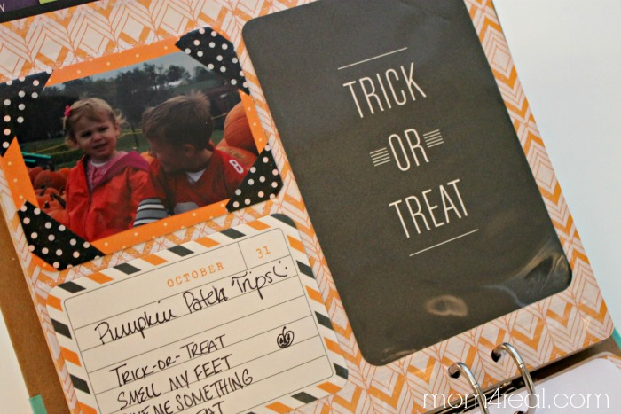 October page for the Michaels Recollections Calendar Kit