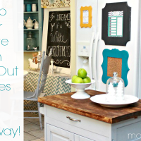 Primp Your Fridge with Cut It Out Frames